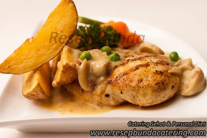 Chicken Steak Saus Mushroom