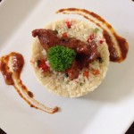 Beef stroganoff and vegetable rice #food #westernmenu #stroganoff #beefstroganoff #cateringbandung…