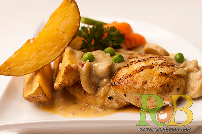 Menu Chicken Steak Saus Mushroom